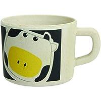 Novastyl 7097078 Daisy tazas de bambú, juego de 6 24 cl-amarillo/negro