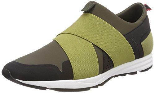 HUGO Herren Hybrid_Runn_neoel Slip on Sneaker, Grün (Medium Green), 42 EU (Hybrid Medium)