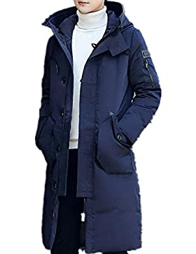 Larga capa de los hombres espesa la chaqueta abajo , deep blue , m