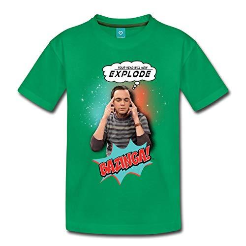 Spreadshirt The Big Bang Theory Sheldon Head Will Explode Teenager Premium T-Shirt, 146/152 (10 Jahre), Kelly Green -