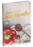 Dékokind Leeres Kochbuch: Für über 80 Lieblingsrezepte || Ca. A5 Softcover || Rezeptbuch zum Selbstgestalten / Selberschreiben mit Inhaltsverzeichnis || Motiv: Küchentisch