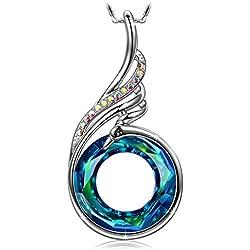 Oferta Especial Black Friday. Collar fractal de Mujer con Cristales Swarovski Azul | Regalos de Joyería para Navidad o Aniversario