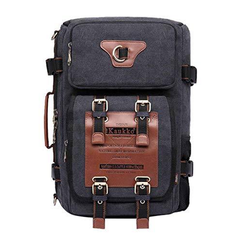2019 Rucksack Herren Dual Benutzen Ritter Tasche Handtasche Segeltuch Tasche Retro Mode Backpack Schultertasche, Rucksack Mädchen Teenager Freizeit