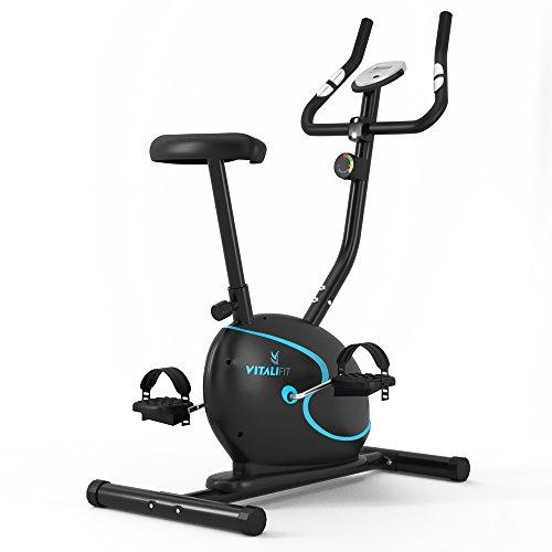 VitaliFit Heimtrainer Ergometer Fahrradtrainer Fitnessbike Trimmrad Fitnessgerät