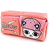 SHERAGO Pen/Pencil Box For Girls & Boys || Best Suitable For School Kids, Travelers And Students || Multipurpose Box/Case || Cotton Material (Peach)