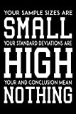 Your Sample Sizes Are Small Statistics Notebook: (110 Pages, Lined paper, 6 x 9 size, Soft Glossy Cover)