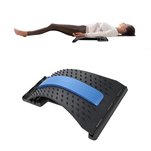 Rückenmassagegerät Lendenwirbelstütze, Lendenwirbelsäule Rückentragevorrichtung Traktion Stretching Relax Spinal Dekompressionskissen für Wirbelsäulen-Ober- und Unterkiefer-Haltungskorrektor