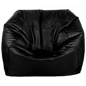 Imitation cuir Noir pour Fauteuil Relax Chill Out Gaming Pouf avec REMBOURRAGE DE SIEGE