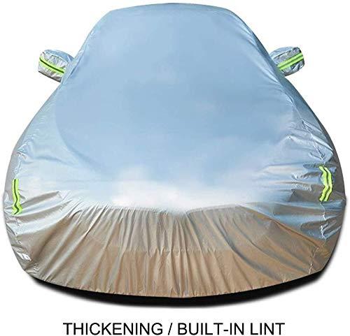 Copriauto Invernale Estivo Spesso Car Cover Resistente Ai Raggi UV Impermeabile Resistente For La Pioggia In Polvere Del Vento Impermeabile Graffi Resistente (Colore: Nero, Dimensione: 320i) Grande Co