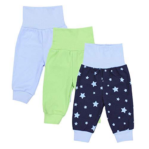 TupTam Baby Jungen Lange Pumphose 3er Pack, Farbe: Farbenmix 2, Größe: 56