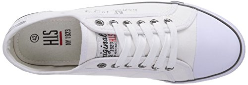 HIS 151-008, Baskets Basses homme Blanc - Weiß (White)