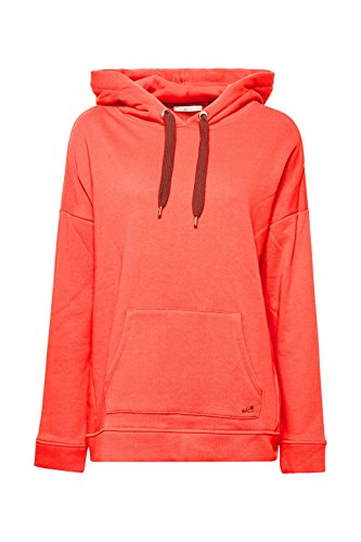 edc by ESPRIT Damen Sweatshirt Rot (Coral Red 640)