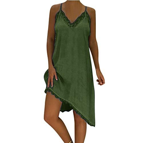 Dragon868 Vestito Donna Eleganti Dress Senza Maniche Pizzo Brasiliana  Taglie Forti 5XL Irregolare Orlare Mare Spiaggia ... e1bfb843105