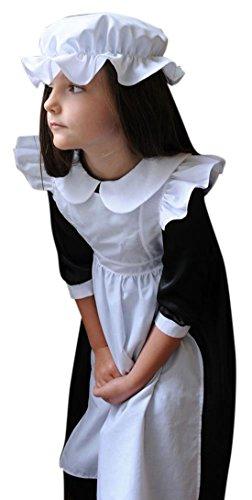 en Karneval Komplett Kostüm Dienstmädchen, Mehrfarbig, Größe 134-146, 9-11 Jahre (Viktorianischen Diener Kostüme)