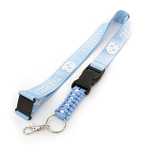 aminco NCAA North Carolina Tar Heels Paracord Schlüsselband Lanyard -
