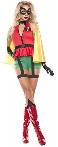 shoperama Damen-Kostüm Sidekick Robin, Größe:M