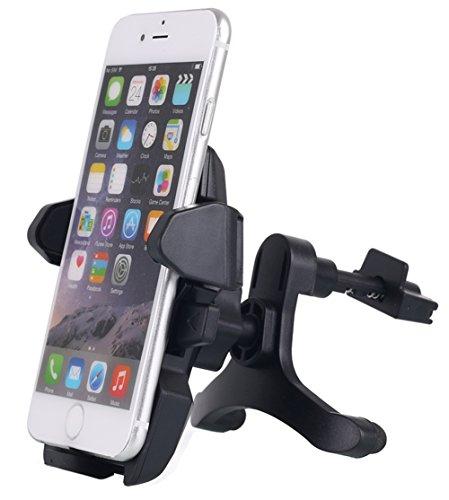 Auto Air Vent Mount, aicase Universal Smartphone Kfz Halterung mit Quick Release Button für iPhone 66S 5S 5, iPod Touch und Andere Geräte 8,9cm-6cm Breit, Schwarz