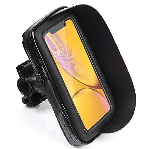 CLM-Tech Bicicleta Soporte para hasta 6.2 Pulgada Teléfono móvil, Impermeable Motocicleta Smartphone...