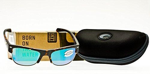 c7e126a0aa Costa del mar 0097963528429 Costa Unisex Costa Pawleys 580 Mirror Glass  Retro Tortoise Green Mirror 580 Glass Lens Sunglasses- Price in India