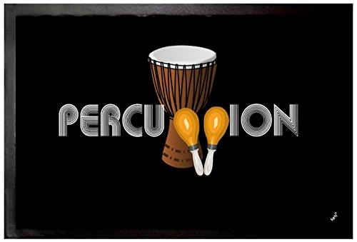 Felpudos Música Band, Percussion Felpudo Alfombrilla (60 x 40cm)