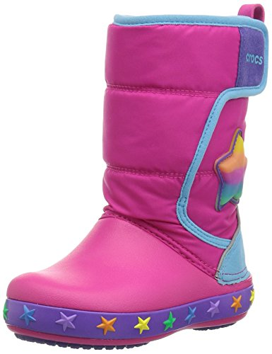 Crocs - Unisex-Kind Kinderleuchten Lodgepoint Star Boot, EUR: 23-24, Multi Stars