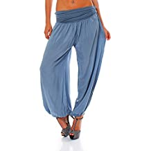 Malito Bombacho Aladin Harem Pantalón Boyfriend Baggy Yoga 1482 Mujer Talla  Única 1c01837bf209