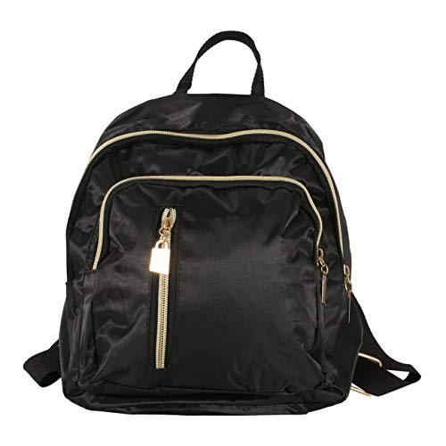 HIPENGYANBAIHU Modische Design Frauen wasserdichte Oxford Cloth Rucksack koreanische Art und Weise Damen Teenager Freizeit-Rucksack (Farbe: schwarz)
