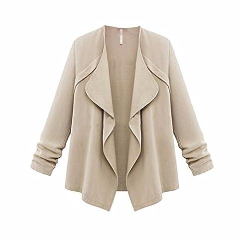 Bluestercool Femmes Cardigan à Manches Longues Grande Taille Coat pour