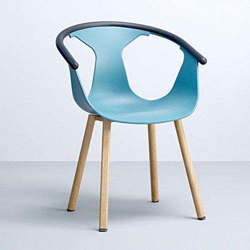 CKH Europäische Designer Moderne Minimalistische Casual Esszimmerstuhl Hause Haushalt Gruß Liegend Zurück Hocker Stuhl Bar Einkaufen Stuhl Hellblau