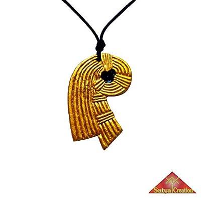 Nœud d'Inanna en pendentif, couleurs or et noir, en argile, Déesse Isis, Inanna, Ishtar, Astarté, Sumérie, Mésopotamie, Babylone, cadeaux de Noël, cadeaux pour elle, cadeaux pour lui, idée cadeau, anniversaire