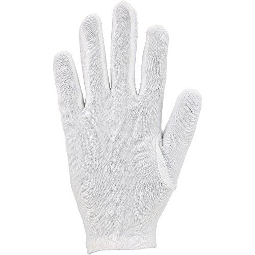 Asatex BTWS 9 Baumwoll-Trikot-Handschuhe mit Schichteln Größe 9, Weiß, 9