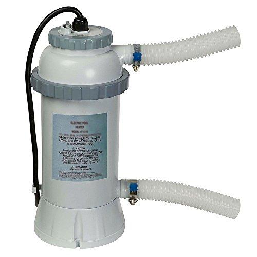 Intex 28684 - Calentador eléctrico para piscinas, hasta 457 cm - Potencia 3000 watts 230 v conexión - aplicación e instalación más sencilla - sensor de flujo integrado - Compatible con piscinas Easy Set o Metal Frame de hasta 457 cm - Está indicado p...