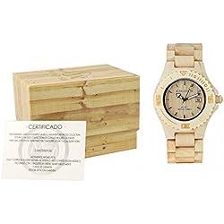 MUSAVENTURA Watch Analogue Display and Wood Strap REF 166_202