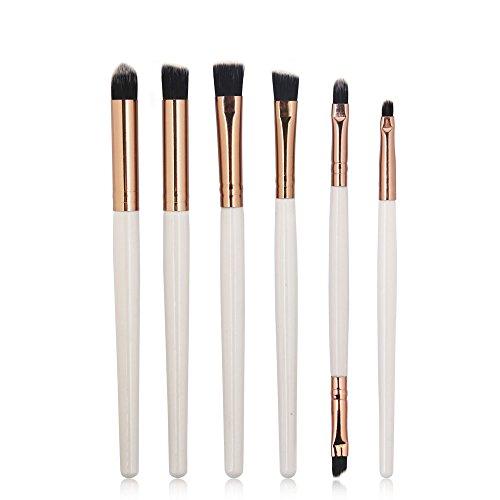 XLGX Lot de 6 Set Outils Pinceaux Maquillage Pinceaux pour le Yeux Ombre à Paupières Sourcils Shader Concealer Cosmetics Brush (F)