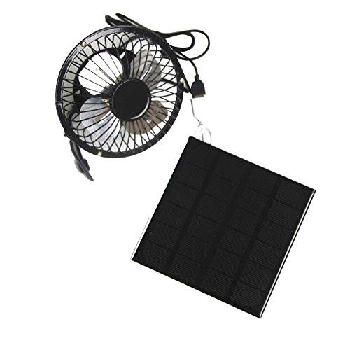 lennonsi Ventilador accionado por energía solar, Mesa Escritorio Ventilador Personal Pequeño Mini...