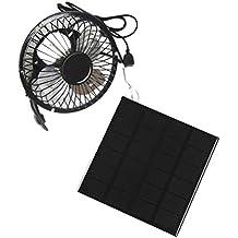 Alian Ventilador USB 3W 6V, Ventilador Ventilador, Ventilador Solar 4 Pulgadas, Teléfono Móvil