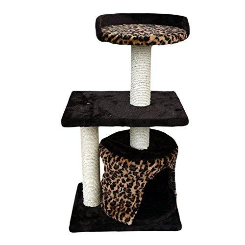 LuckyPet Rascador Arbor para gatos Juguete Beige Marron Afilador Centr
