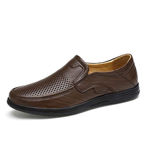 YIJIAN-SHOES Herren Oxford Schuhe Hochwertige Oxfords Für Männer Fahren Loafer Slip On Stil OX Leder Runde Kappe Atmungsaktives Licht (Hohl Vamp Ist Optional) Kleid Oxford Schuhe -