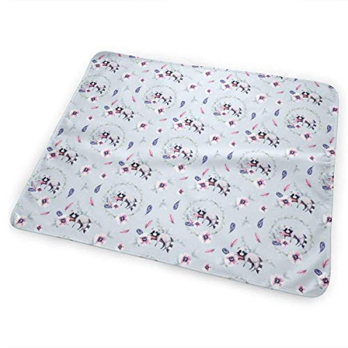 swerrtty Patterns of Raccoon_3072 Changing Pad Portable - Biggest Changing Mat to Change Diaper (25.5
