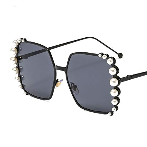 Taiyangcheng Polarisierte Sonnenbrille Sonnenbrille Übergroße Sonnenbrille Frauen Perle Dekoration Markendesigner Vintage Big Frame Sonnenbrille Quadrat Shades Weiblich,a5