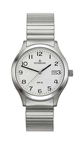 Dugena 4129520 - Men's Analog Quartz Watch with Silver Stainless Steel Bracelet - Waterproof to 50 Metres