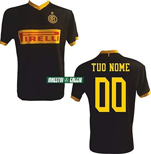 F.c. inter maglia replica third nera personalizzata ufficiale