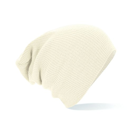 Beechfield Slouch Beanie Hat Oversized Knitted Winter Baggy B461 Colours Mens