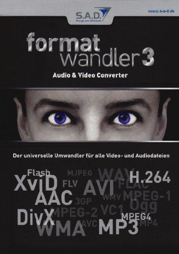 Formatwandler 3, CD-ROM Audio & Video Converter. Der universelle Umwandler für alle Video- und Audiodateien. Für Windows XP, Vista, 7