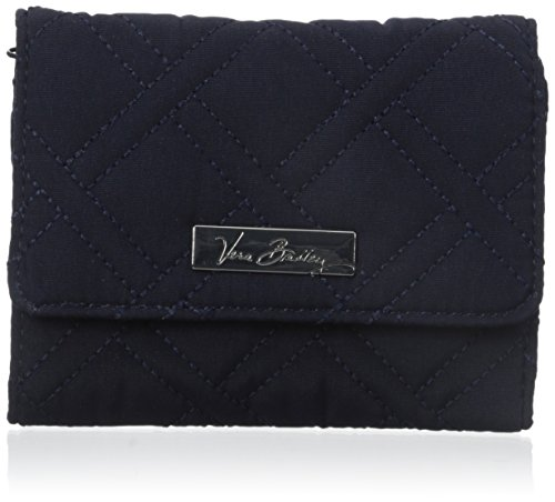 Vera Bradley Petite Wallet 3 Trifold, Classic Navy, One Size - Bradley Aus Handtaschen Leder Vera
