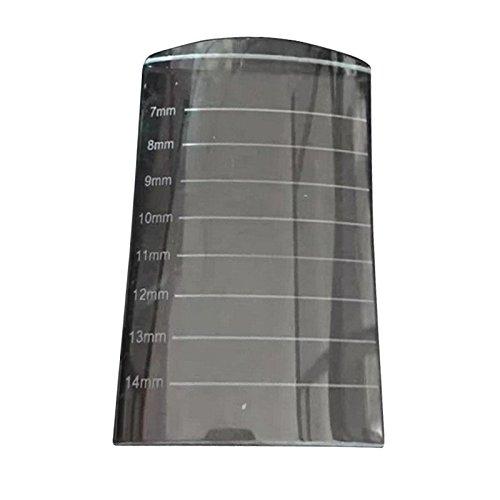 lzndeal U-Shape Crystal Glass Adhesive Glue Pallet Stone Eyelash Extension Tools