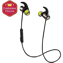 Dreamerd Bluetooth Headphones,Bluetooth 4.1 Magnetic Earbuds Waterproof IPX7 Sport Headset Wireless Stereo Soundbuds with Mic for Running Gym Workout