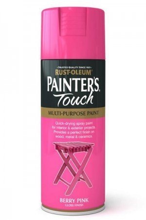 "Rost-Oleum Mehrzweck-Spray ""Painter\'s Touch\"", 400 ml, Weiß-Glänzend, Berry Pink, 6er-Pack"