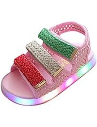 OHQ Scarpe per Neonato, Bambino Piccolo bambini Sport Estate Ragazzi Ragazze Baby Sandali LED Luminose Scarpe Sneakers