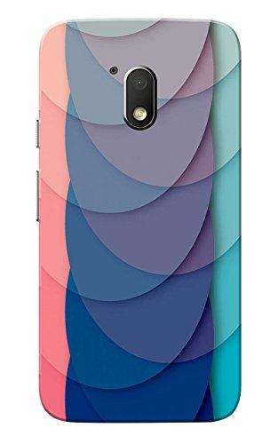 Caseria Half Circles Navy Slim Fit Hard Case Cover for Motorola Moto G Play 4th Gen/Moto G4 Play